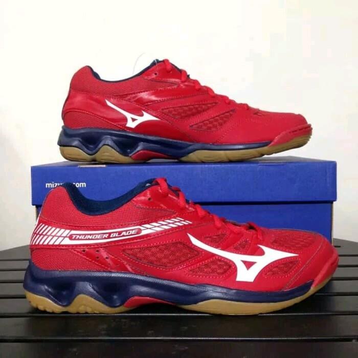 Jual Sepatu Volly Voli Mizuno V1ga177007 Thunder Blade Mars Red