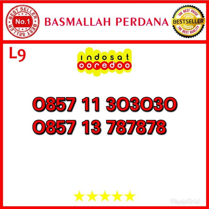 Nomor Cantik Ooredoo IM3 seri Triple AB 787878 0857 11 303030 L09