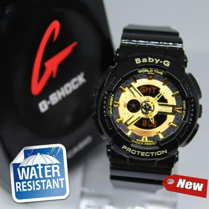 4377eeef2c Jual JAM TANGAN BABY-G GA110 DOUBLE COLOUR BLACK GOLD ANTI AIR KW ...