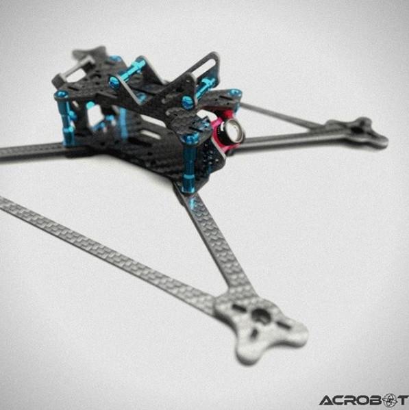Foto Produk ACROBOT blitZ - Titanium Edition - FPV Drone Racing 3K Carbon Frame dari DooFPV