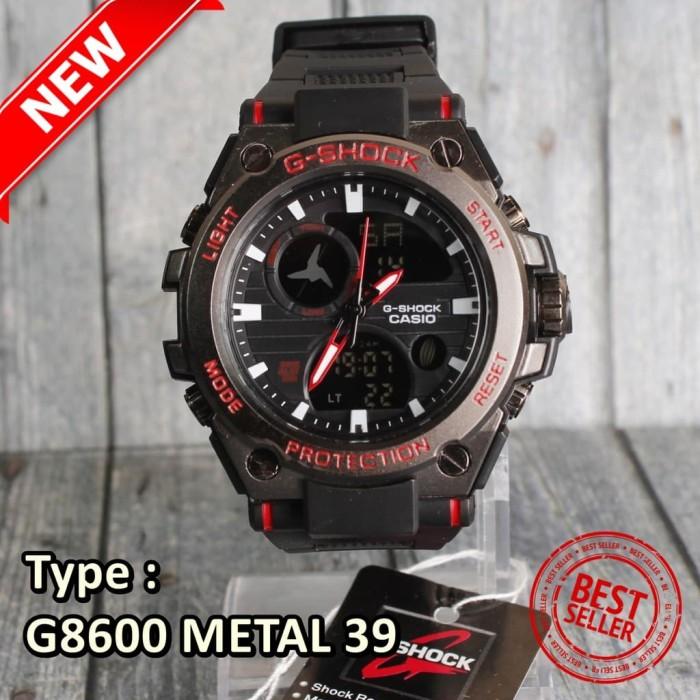 ... Water Resistant Anti Air WR 30m. Source · Jam tangan G-Shock Casio G8600 Metal Besi Coklat digi