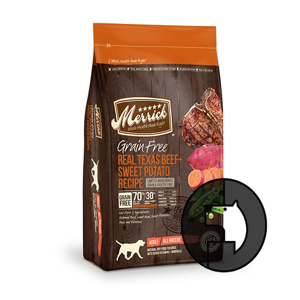 Foto Produk merrick grain free 1.8 kg dog real texas beef and sweet potato recipe dari F.J. Pet Shop