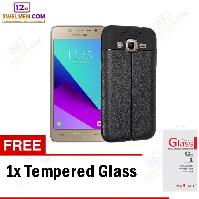 Case Auto Focus Samsung J2 Prime - Hitam + Free Tempered Glass