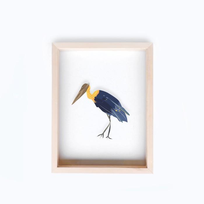 harga Hiasan dinding wooden float frame burung bangau tong 30x40cm Tokopedia.com