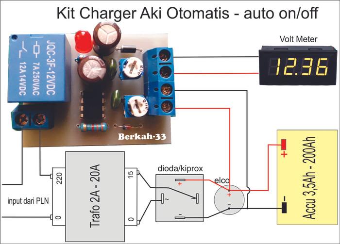 harga Kit charger aki 12v otomatis on off accu 35ah-200ah Tokopedia.com