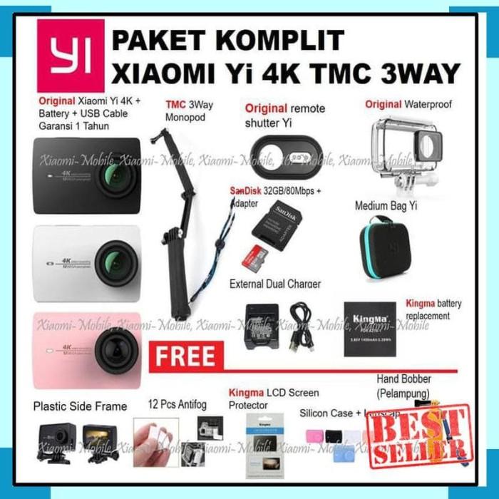 Xiaomi Yi 4K Action Camera Paket Komplit - WP Kingma
