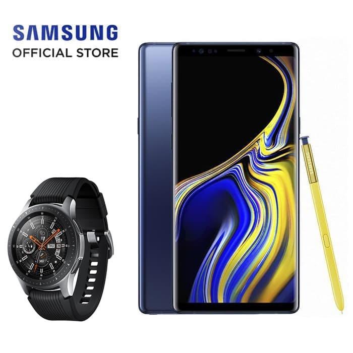 samsung galaxy note9 (128gb) - ocean blue bundling galaxy watch 42mm