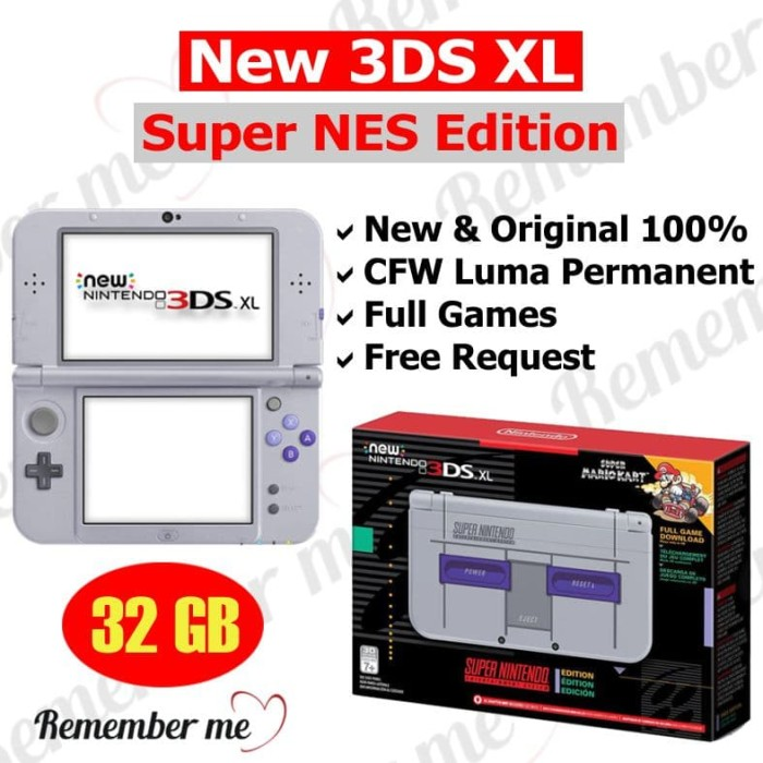 nintendo 3ds xl super nintendo edition