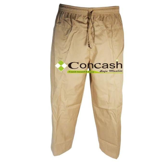 Celana Sirwal / Baju Muslim Pria / Baju Muslim Concash - Cokelat