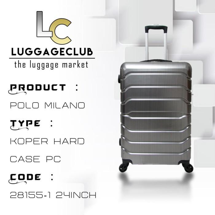 Koper Hard Case ABS Polo Milano 828155 24Inch Silver