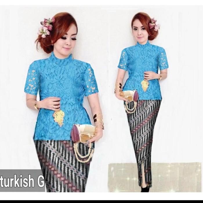 harga Setelan kebaya brukat/brokat/lace modern rok batik cantik etnik Tokopedia.com