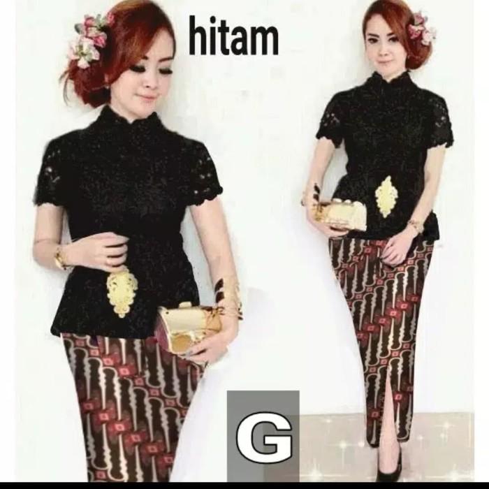 harga Setelan kebaya brukat/brokat/lace modern etnik rok batik katun bagus Tokopedia.com