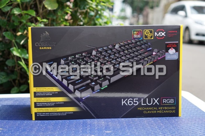 corsair gaming keyboard k65 lux rgb cherry mx red