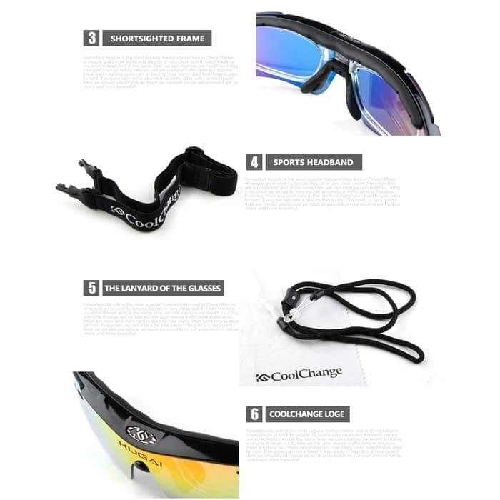 Kacamata Sepeda Coolchange 5 Lensa Myopia + 2 Style Outdoor - 0089