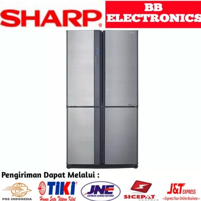 harga Kulkas sharp sj-if85pb-sl hybrid cooling system 4 door queen series Tokopedia.com