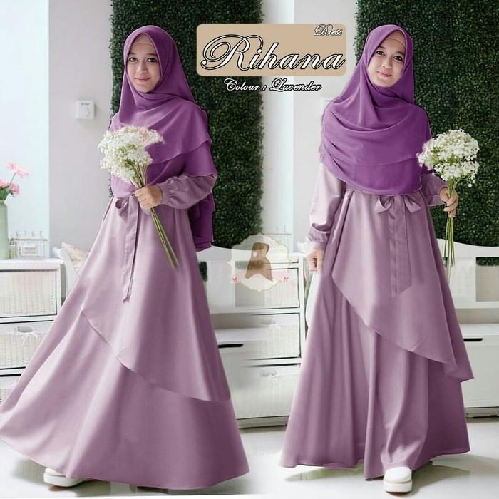 102 Gaya Baju Gamis Warna Lavender Terbaik