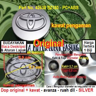 harga Dop center / roda velg toyota kaki 57 + kawat avanza rush dll (1 bh) Tokopedia.com