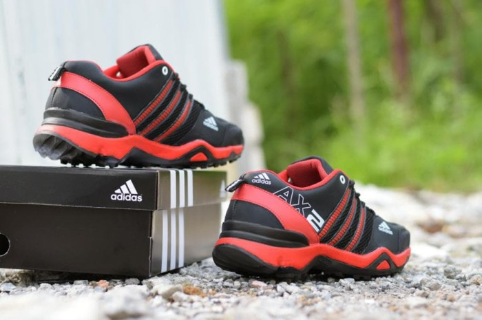Jual Sepatu Outdoor Adidas AX2 Hitam Merah - Running Sport Pria ... d1604edb70