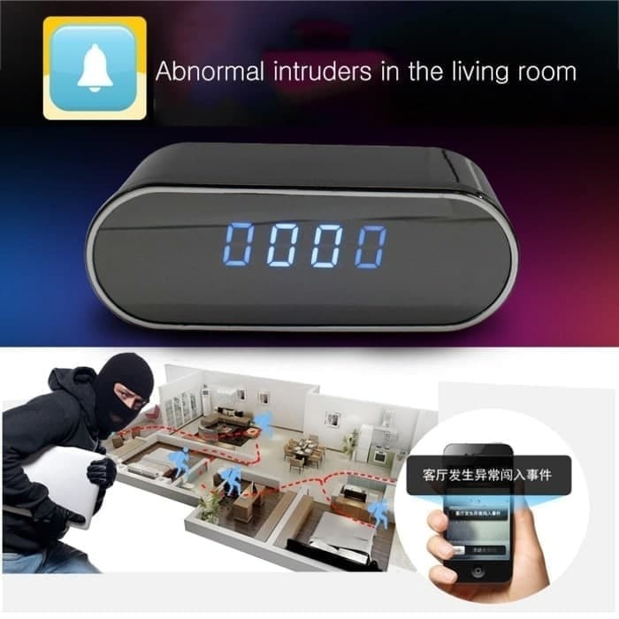 Nanny Camera Room Clock Home Recorder IP WIFI Night Vision