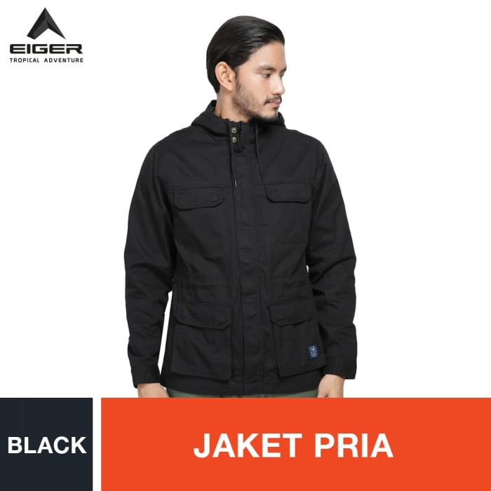 harga Eiger 1989 hanover ol jacket - black / jaket pria - hitam l Tokopedia.com