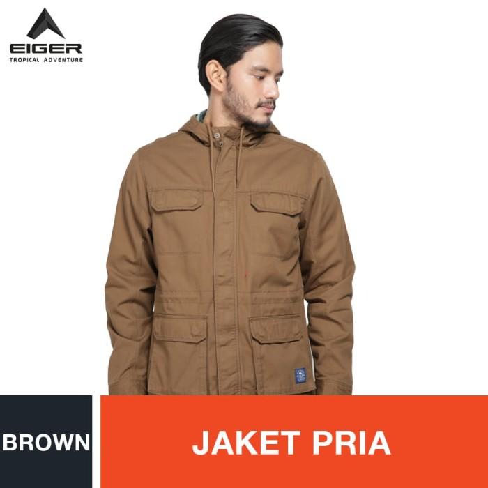 harga Eiger 1989 hanover ol jacket - brown / jaket pria - cokelat xl Tokopedia.com