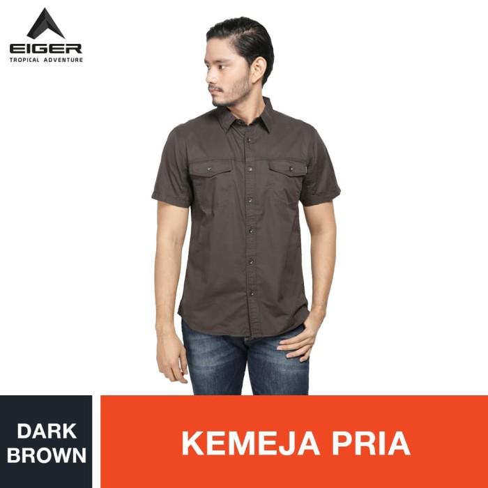 harga Eiger riding dayton ol shirt - dark brown / kemeja pria - cokelat l Tokopedia.com