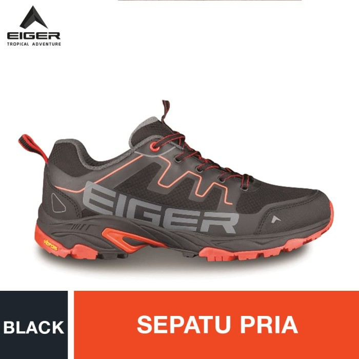 harga Eiger pulse trail run man shoes - black / sepatu pria - hitam 41 Tokopedia.com