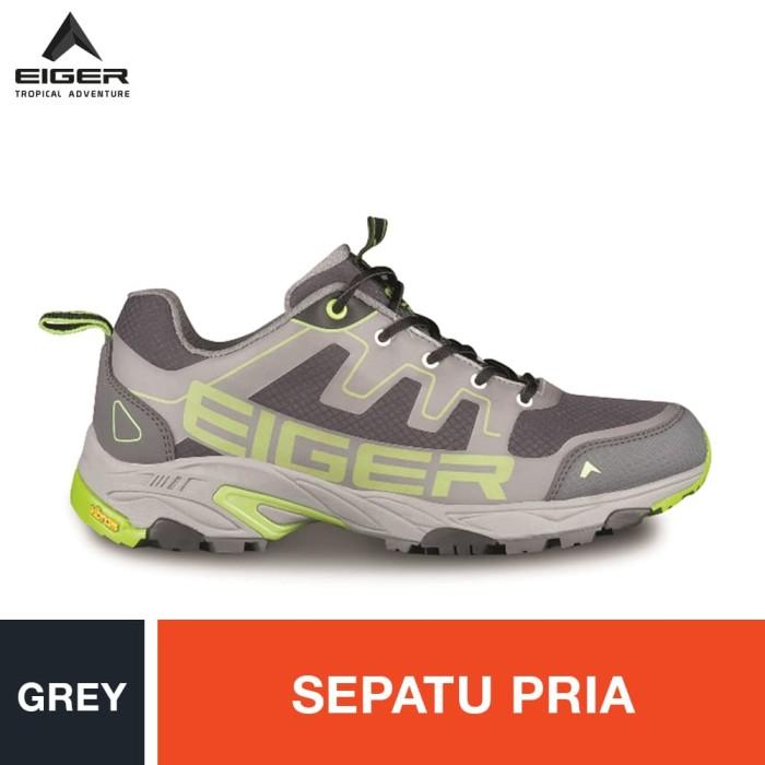 harga Eiger pulse trail run man shoes - grey / sepatu pria - abu-abu muda 44 Tokopedia.com