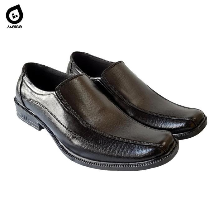 harga Ambigo sepatu formal pantofel pria kulit sintetis - easton western g60 - hitam 43 Tokopedia.com
