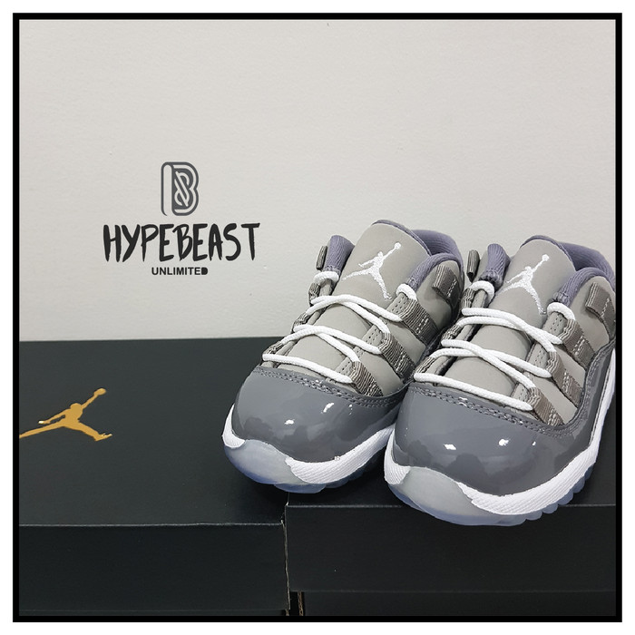 finest selection 2770b 470e6 Jual AIR JORDAN AJ 11 Retro Low Cool Grey Toddler ORIGINAL Kids Sneaker -  DKI Jakarta - Hypebeast Unlimited | Tokopedia