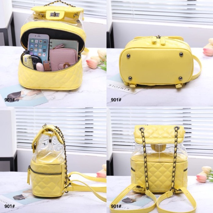 0b7415891409d4 Jual Chanel Transparent Backpack 901#v Quality SemPrem Grade AAA Bag ...