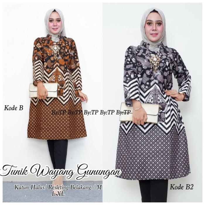 harga Tunik etnik (dress batik) motif wayang gunungan murah ukuran allsize Tokopedia.com