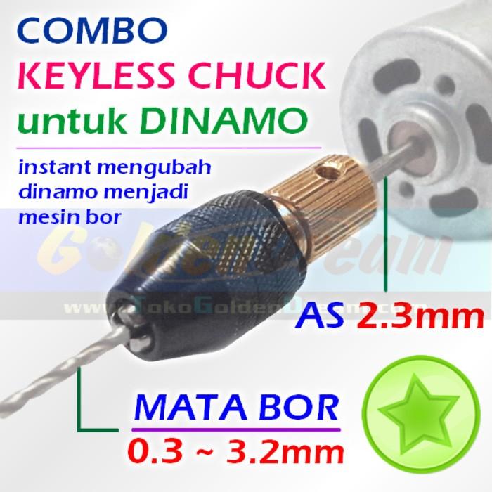 harga Combo keyless chuck utk dinamo motor dc kepala mini bor drill collet Tokopedia.com