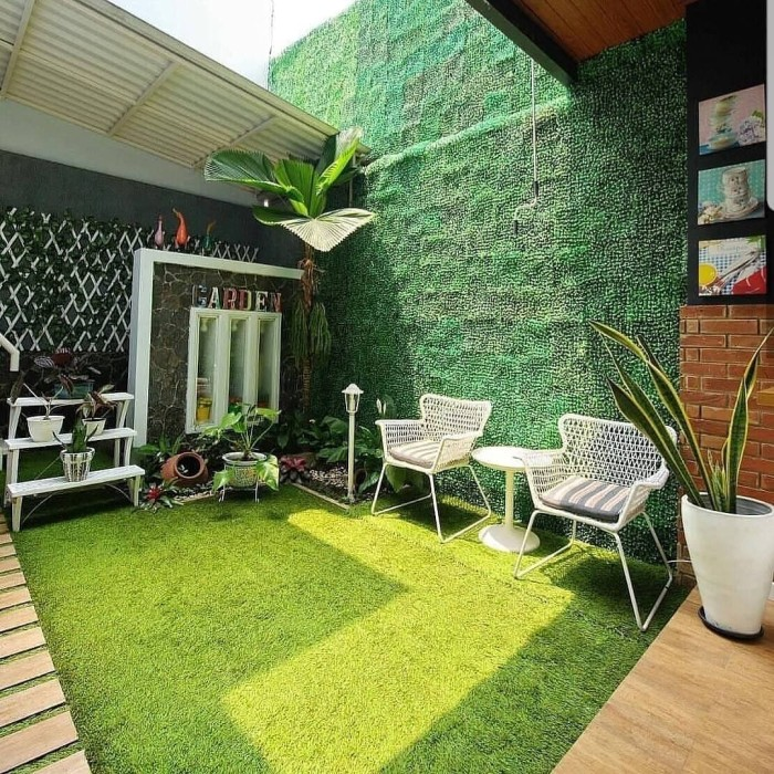 Jual Rumput Sintetis Dekorasi Taman Halaman Rumah Murah Jakarta Utara Gbucomp Tokopedia