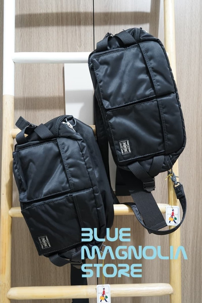 8efcefeb988c Jual HEAD PORTER TANKER 2-Way Waist Bag - Hitam - Blue Magnolia ...