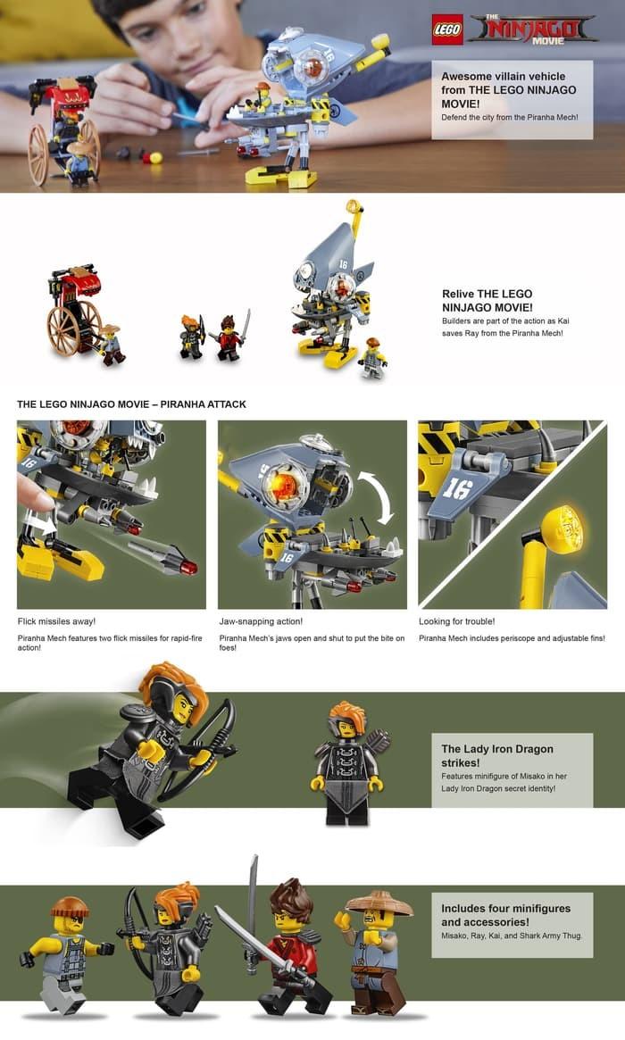 Jual THE LEGO NINJAGO Movie Piranha Attack 70629 - Kab  Tangerang -  Sigendut Ngemilterus | Tokopedia