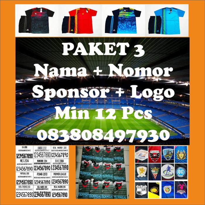 Jual Paket 3 Setelan Futsal Bola Murah Nama Nomor Sponsor Logo Kota Bogor Regista Store Tokopedia