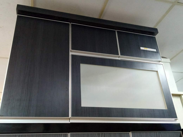 Jual Kitchen Set Atas 4 Pt Uk 120 Kp Lemari Dapur Abu Abu Muda