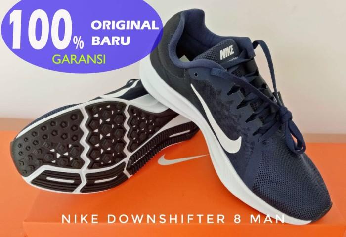 Sepatu Lari/Running NIKE Downshifter 8 Midnight Navy 908984-40 - Midnight Navy, 44