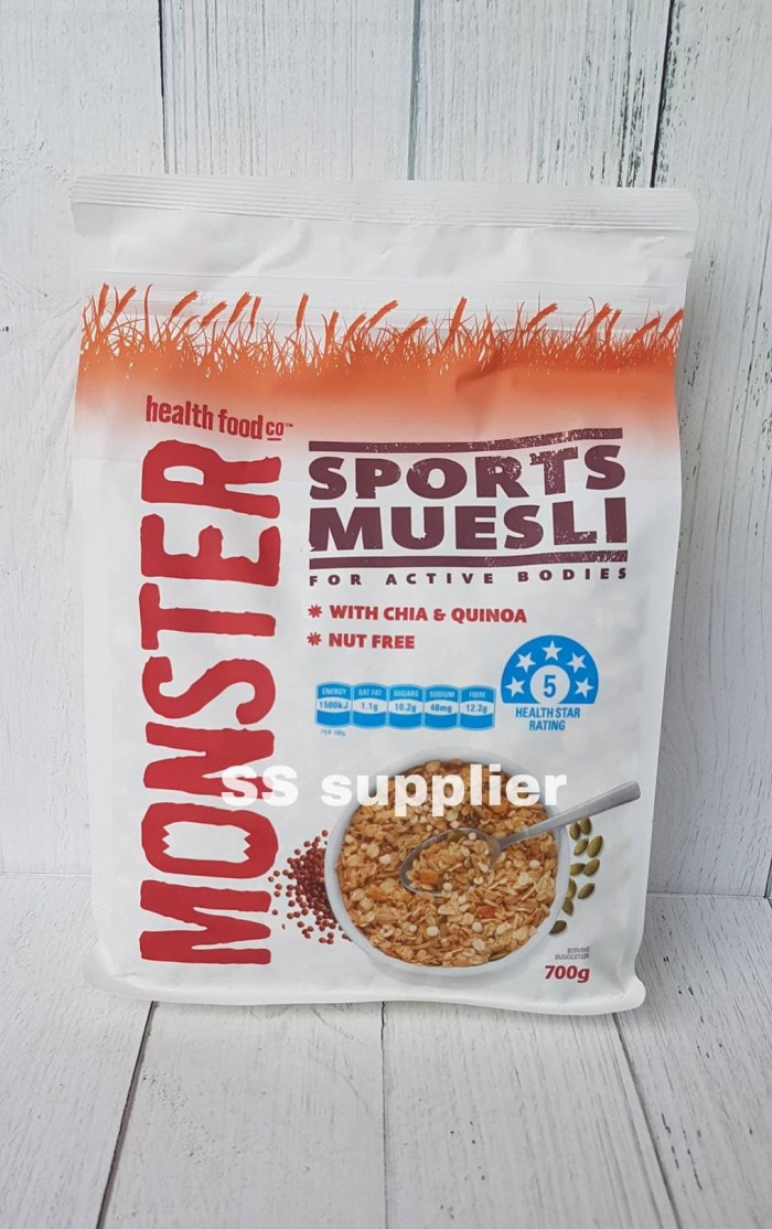 Foto Produk Monster Sport Muesli | Monster Muesli | Healthy Food | Made in AU dari SS Suppliers F&B Jakarta