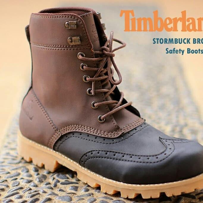 harga Sepatu boots timberland safety strombuck series brown ujung besi  Tokopedia.com 29e8b78f3b