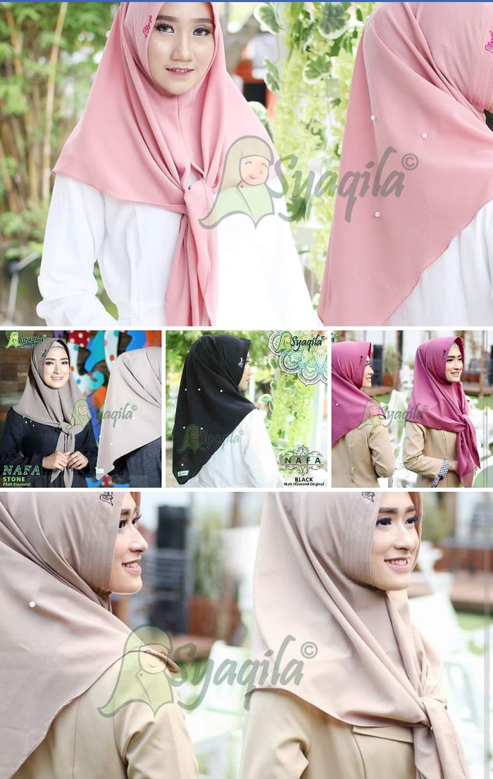 Jual Nafa Polos Syaqila Hijab Segitiga Instant Simpel Bergo Motif Kab Karawang Miulan Karawang Tokopedia