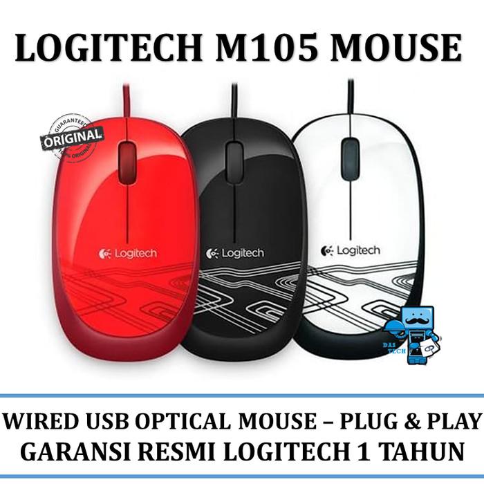509bffedaed Mouse usb logitech m105 - mouse kabel / wired (ada 3 pilihan warna) harga  ...
