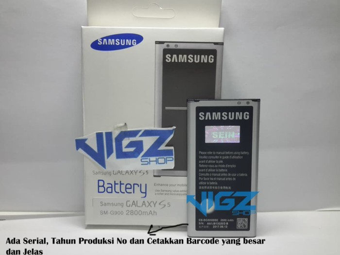 Baterai Battery Samsung Galaxy S5 G900 Original 100%