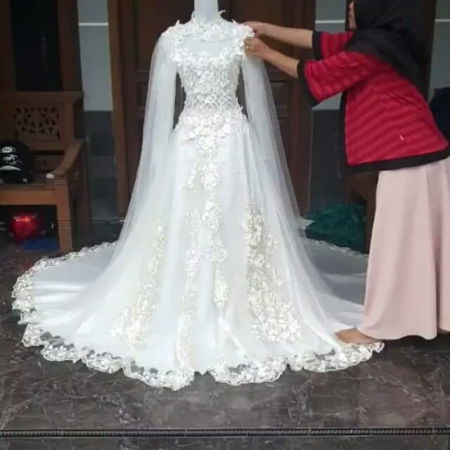 Jual Gaun Pernikahan Gaun Nikah Baju Nikah Kebaya Nikah Gaun Resepsi Gaun Dki Jakarta Karya Shope Tokopedia