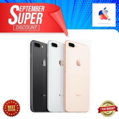 [BEST SELLER] IPHONE 8 PLUS 64GB 64 GB GOLD GARANSI INTERNASIONAL - Emas