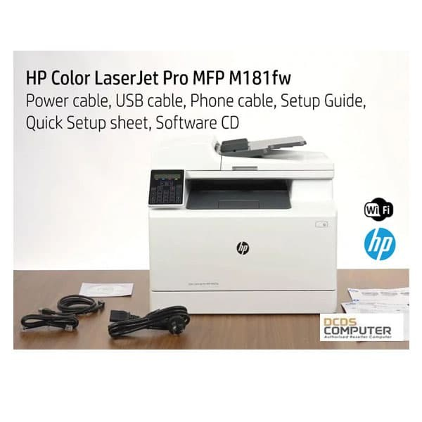 harga Hp color laser jet multi function printer m181fw hp t6b71a fax wifi Tokopedia.com