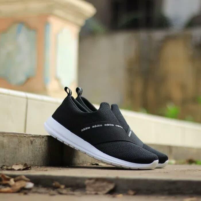 ed6979013374 Jual Sepatu Adidas Neo CF Refine Adapt Slip On Original Black White ...