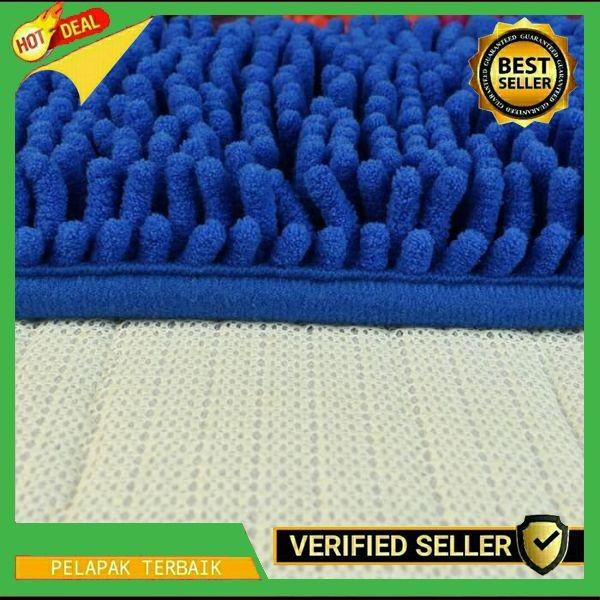 Promo Harga Murah Keset Cendol Dof Biru 40 x 60 cm / karpet bulu /