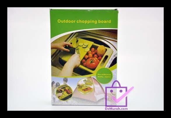 Outdoor Chopping Board / Talenan Wastafel 2 In 1 - Biru Muda